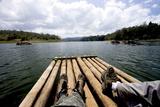 Bamboo Rafting, Periyar Tiger Reserve, Thekkady, Kerala, India, Asia Photographic Print by Balan Madhavan
