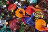 Colourful Tajines, Essaouira, Atlantic Coast, Morocco, North Africa, Africa Lámina fotográfica por Stuart Black