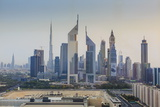 Dubai Cityscape with Burj Khalifa and Emirates Towers, Dubai, United Arab Emirates, Middle East Photographic Print by Amanda Hall