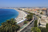 Baie Des Anges and Promenade Anglais Photographic Print by Amanda Hall