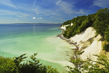 Chalk Cliffs, Jasmund National Park, Ruegen Island, Mecklenburg-Vorpommern, Germany, Europe Fotografisk tryk af Jochen Schlenker