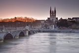 The Maine River Flowing Through the City of Angers Photographic Print by Julian Elliott