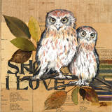 Little Owls II Poster van Patricia Quintero-Pinto