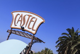 Castel Plage Beach Sign Photographic Print by Amanda Hall