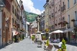Croix De Ville Street, Aosta, Aosta Valley, Italian Alps, Italy, Europe Photographic Print by Nico Tondini
