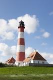 Westerheversand Lighthouse, Westerhever, Eiderstedt Peninsula, Schleswig Holstein, Germany, Europe Photographic Print by Markus Lange