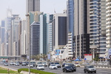 Sheikh Zayed Road, Dubai, United Arab Emirates, Middle East Photographic Print by Amanda Hall
