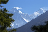 View to Mount Everest and Lhotse from the Trail Near Namche Bazaar, Nepal, Himalayas, Asia Photographic Print by Peter Barritt