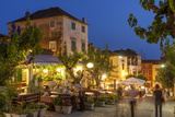 Restaurants at Dusk, Makarska, Dalmatian Coast, Croatia, Europe Photographic Print by John Miller