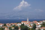 View of Town with Mainland in Background, Postira, Brac Island, Dalmatian Coast, Croatia, Europe Photographic Print by John Miller