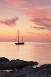 Sunset at the Coast Near Centuri Port, Corsica, France, Mediterranean, Europe Photographic Print by Markus Lange