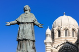 De Belsunce Statue at the Cathedral of Marseille (Notre-Dame De La Major) (Sainte-Marie-Majeure) Photographic Print by Nico Tondini