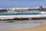 View from Playa Del Castillo to El Cotillo, Fuerteventura, Canary Islands, Spain, Atlantic, Europe Photographic Print by Markus Lange