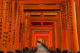 The Endless Red Gates (Torii) of Kyoto's Fushimi Inari Shrine, Kyoto, Japan, Asia Photographic Print by Michael Runkel