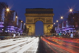 Champs Elysees and Arc De Triomphe at Christmas, Paris, Ile De France, France, Europe Photographic Print by Markus Lange