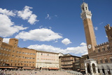 Piazza Del Campo with Palazzo Pubblico, Sienna, Tuscany, Italy Photographic Print by Martin Child