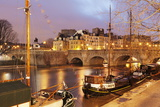 Ships on the River Seine and Pont Neuf, Paris, Ile De France, France, Europe Photographic Print by Markus Lange