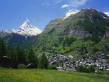 Matterhorn Mountain, Zermatt, Switzerland Fotografisk tryk af Roy Rainford
