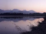 Hopfensee Lake at Sunrise, Near Fussen, Allgau, Bavaria, Germany, Europe Photographic Print by Markus Lange