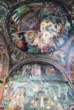 Church of the Holy Virgin, Mural Frescos by Zahari Zograf, Troyan Monastery, Bulgaria, Europe Photographic Print by Christian Kober