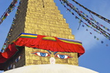 All Seeing Eyes of the Buddha, Boudhanath Stupa, UNESCO World Heritage Site, Kathmandu, Nepal, Asia Photographic Print by Peter Barritt