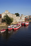River Boats Moored on the River Ouse at the Guildhall Photographic Print by Mark Sunderland
