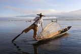 Intha Leg-Rower Fisherman, Inle Lake, Shan State, Myanmar (Burma), Asia Photographic Print by Stuart Black