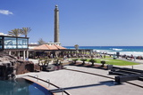 Centro Spa and Lighthouse Faro De Maspalomas Photographic Print by Markus Lange