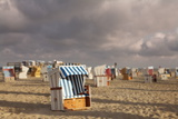 Beach Chairs at the Beach of Sankt Peter Ording Photographic Print by Markus Lange