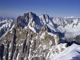 Aiguille Du Midi, Rhone Alpes, France Photographic Print by Jack Jackson