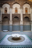 The Ornate Interior of Madersa Bou Inania Photographic Print by Douglas Pearson