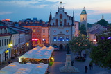 City Hall at Dusk, Market Square, Old Town, Rzeszow, Poland, Europe Photographic Print by Frank Fell