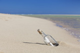Message in a Bottle at the Beach of Risco Del Paso Photographic Print by Markus Lange