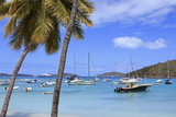 Boats in Cruz Bay, St. John, United States Virgin Islands, West Indies, Caribbean, Central America Photographic Print by Richard Cummins