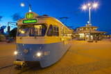 City Trams at Dusk, Drottningtorget, Gothenburg, Sweden, Scandinavia, Europe Photographic Print by Frank Fell