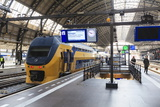 Intercity Train in a Platform at Central Station, Amsterdam, Netherlands, Europe Photographic Print by Amanda Hall
