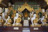 Buddha Statues Inside the Shwedagon Pagoda, Yangon (Rangoon), Yangon Region, Myanmar (Burma), Asia Photographic Print by Stuart Black