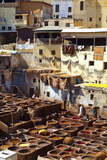 The Tanneries, Medina (Old Town), Fes, Morocco, North Africa, Africa Papier Photo par Doug Pearson