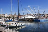 Boats and the Bigo at the Old Port in Genoa, Liguria, Italy, Europe Photographic Print by Mark Sunderland