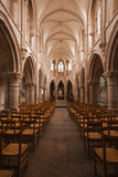 The Nave in the Church of Notre Dame, Saint Pere, Yonne, Burgundy, France, Europe Photographic Print by Julian Elliott