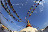 Boudhanath Stupa, UNESCO World Heritage Site, Kathmandu, Nepal, Asia Photographic Print by Peter Barritt