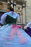 Traditional Dancing Outside the 13th Century Iglesia Y Convento Del Carmen, Valencia, Spain, Europe Photographic Print by Neil Farrin