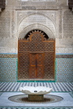 The Ornate Interior of Madersa Bou Inania Photographic Print by Doug Pearson