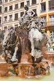 Fontaine Bartholdi in Place Des Terreaux, Lyon, Rhone, Rhone-Alpes, France, Europe Photographic Print by Mark Sunderland