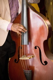 Detail of Double Bass Being Played by a Local Musician in Bar El Floridita Fotoprint van Lee Frost