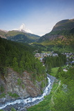 The Matterhorn, 4478M, and Zermatt, Valais, Swiss Alps, Switzerland, Europe Photographic Print by Christian Kober