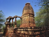 Ruins of an Ancient Surya Temple, Osian, Jodhpur, Rajasthan, India Photographic Print by Richard Ashworth