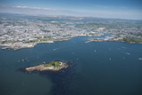 Plymouth with Drakes Island in Foreground, Devon, England, United Kingdom, Europe Photographic Print by Dan Burton