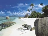 Anse Source D'Argent, La Digue, Seychelles Fotografisk tryk af Lee Frost