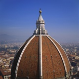 Elevated View of the Roof of the Duomo and Cityscape, Florence, Tuscany, Italy Photographic Print by Roy Rainford